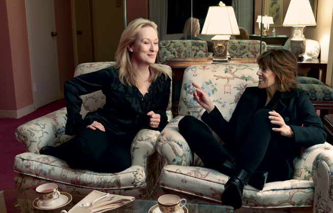 Ephron with Meryl Streep