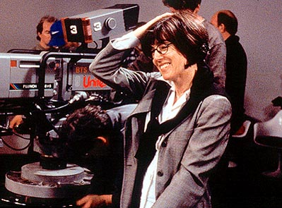 Ephron on the set of Lucky Numbers